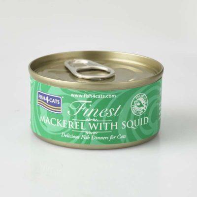 Finest Mackerel With Squid 70g